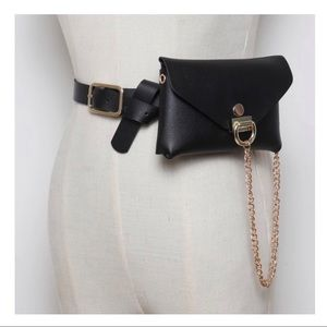 🖤 NEW 3 In 1 Black & Gold Chain Belt Bag 🖤